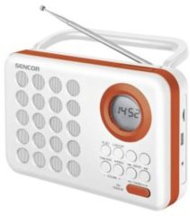Sencor SRD 220 WOR Digital FM radio Klok Digitaal Oranje, Wit