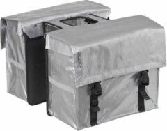Bagoo Dubbele Fietstas Bisonyl 58 Liter Zilver