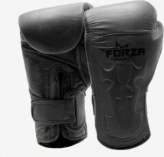 Forza Fighting Gear FORZA LEREN BOKSHANDSCHOENEN – TRIBAL – WARRIOR EDITION - ZWART
