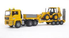 Bruder Vrachtwagen MAN TGA Dieplader Met JCB 4CX Graaf-laadmachine (3402776)