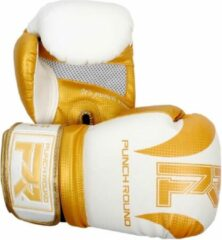 PunchR™ Punch Round (Kick)Bokshandschoenen SLAM Mat Carbon Wit Goud 16 OZ Bokshandschoenen