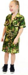 Donkergroene Rubies Rubie's Kostuum Soldaat Meisjes Legergroen Maat 140