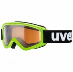 Uvex - Kid´s Speedy Pro Lasergold S2 - Skibril groen/zwart/grijs