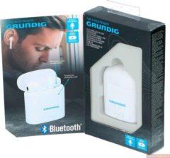 Grundig oordopjes - draadloos - Bluetooth - wit - met oplaadcase en microfoon