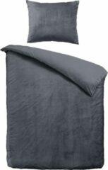 Antraciet-grijze Velvet Couture Dekbedovertrek - 140x200/220 cm - Velvet Touch - Antraciet