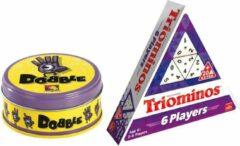 Goliath Spelvoordeelset Dobble Classic - Kaartspel & Triominos 6 player