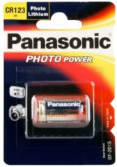 Panasonic Batterie Lithium Photo CR123AL/1BP Panasonic Silber