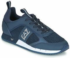 Blauwe Lage Sneakers Emporio Armani EA7 BLACK WHITE LACES U