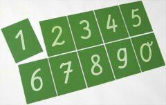 Groene Eduplay Schuurpapier Cijfers 0-9