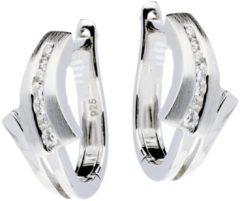 Elegance Zilveren Oorbellen klapcreolen met zirconia 107.6178.00