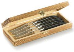 Steakmesser-Set in edler Kiefernholz-Box Basco GEFU Edelstahl, Schwarz