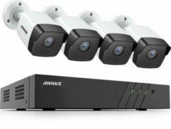 Witte Eve Audio ANNKE ACS-8 N48-I51DL-4 Beveiligingscamera set - PoE - 5MP - Met audio