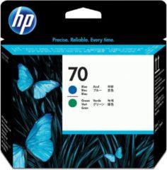 Blauwe HP 70 - Inktcartridge / Blauw / Groen