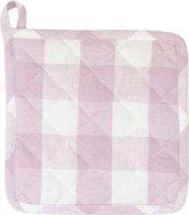 Clayre & Eef | Pannenlap | Pink | 100% Katoen | vierkant | ruit | CFA45P