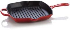 Le Creuset vierkante grillpan - 26 CM - Voor iedere warmte bron - Kersenrood