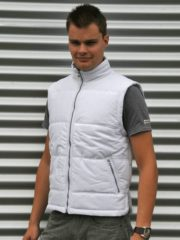 Lemon & Soda Basic bodywarmer wit voor heren - winddichte mouwloze sport vesten L (40/52)