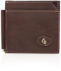 Bruine Castelijn & Beerens Gaucho Dollarclip mokka Dames portemonnee