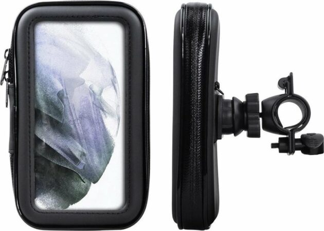 Afbeelding van Shop4 - Samsung Galaxy S21 Plus Fietshouder Stuur Spatwaterdicht Zwart