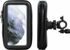 Shop4 - Samsung Galaxy S21 Plus Fietshouder Stuur Spatwaterdicht Zwart