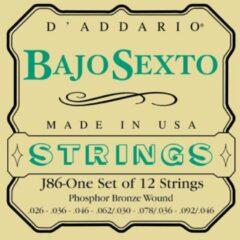 D'Addario EJ86 snarenset voor bajo sexto