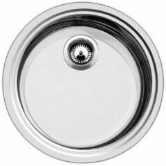 Blanco Rondosol IF spoeltafel inbouw 1 bak 448 x 390 mm roestvrij staal lichtglanzend 514647