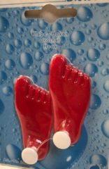 Rode Universele handdoekhaken zelfklevend (setje van 2) voeten rood