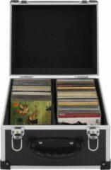 VidaXL Cd-koffer voor 40 cd's aluminium ABS zwart