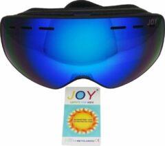 Zwarte Joy Kids Crowne Kids TPU Ultra-Light frame. Dubbel layer lens Ski/Snowboard Goggle