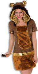 Fun & Feest Party Gadgets Pluche leeuwen jurkje voor dames 38 (m)