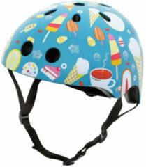 Blauwe Mini Hornit Lids Fietshelm Voor Kinderen - Met Led Achterlicht - Head Candy (M)