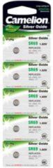 Camelion 371/370 - 371 - 370 - SR920SW - SR69W - AG6 - LR69 Zilveroxide horloge knoopcel batterij 1,55Volt - 5 stuks