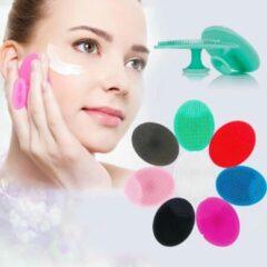 Roze LOUZIR 2 St. Siliconen gezicht borstel - Gezichts reiniger borstel - Face cleaner - Beautypad - Huidverzorgingsbrush - Gezichtsborstel