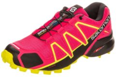 Rosa Speedcross 4 Trail Laufschuh Damen Salomon virtual pink / black / sulphur spring