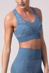 Blauwe REVIVE Sportswear REVIVE seamless - Yoga bh - Sportbh VIANE - duurzaam - EU gemaakt