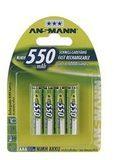Ansmann Energy Ansmann Batterie 4 x AAA-Typ NiMH (wiederaufladbar) 550 mAh 5030772