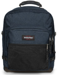 Blauwe Eastpak Ultimate Rugzak 16 inch laptopvak - Triple Denim