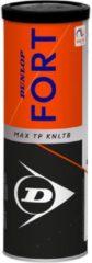 Gele Dunlop Fort Max TP KNLTB Tennisballen - 3 stuks