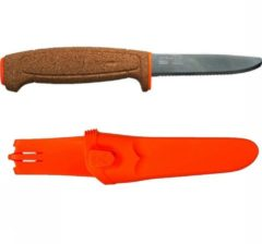 Mora of Sweden Mora survivalmes Floating Drijvend Serrated Kurk - Oranje