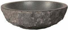 Antraciet-grijze Saniclass CoreStone 13 waskom 42cm Basalt gehamerd 2801