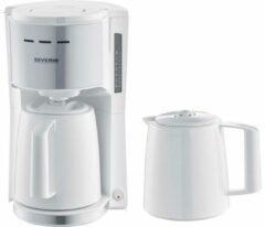Severin Koffiezetapparaat Wit Capaciteit koppen: 8 Thermoskan, Met filterkoffie-functie