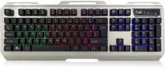Ewent toetsenbord Gaming toetsenbord verlicht BE layout zwart/zilver