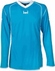 Lichtblauwe KWD Sportshirt Victoria - Voetbalshirt - Volwassenen - Maat M - Blauw/Wit