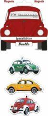 Rode Volkswagen Beetle Magneten Set 3 stuks