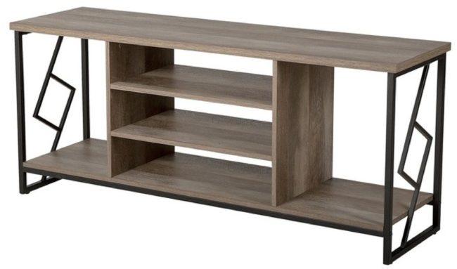 Afbeelding van Beliani Forres TV-meubel Donker houtkleur Verlijmd hout