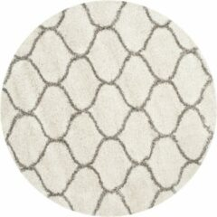 Grijze Safavieh Hedendaags Ronde Vloerkleed, SGH280