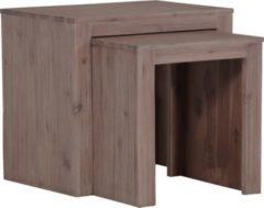 IOVIVO Beistelltisch-Set New Orleans Akazienholz