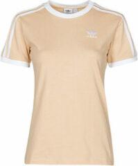 Oranje T-shirt Korte Mouw adidas 3 STRIPES TEE