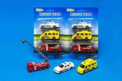 Basic 2-Play Traffic Hulpdiensten 3 Auto's Brandweer/Ambulance/Politie