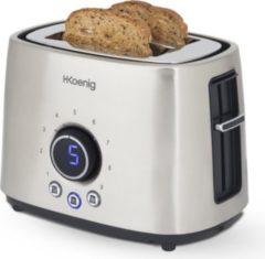 H.KOENIG TOS8 2-Scheiben Edelstahl Toaster, 1000 W