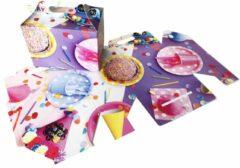 """Paarse Presentdoosjes.nl Presentdoosje met handvat """"Verjaardag"""": 12,5 x 7 x 9,5cm (10 stuks)"""